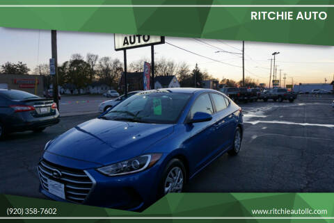 2018 Hyundai Elantra for sale at Ritchie Auto in Appleton WI