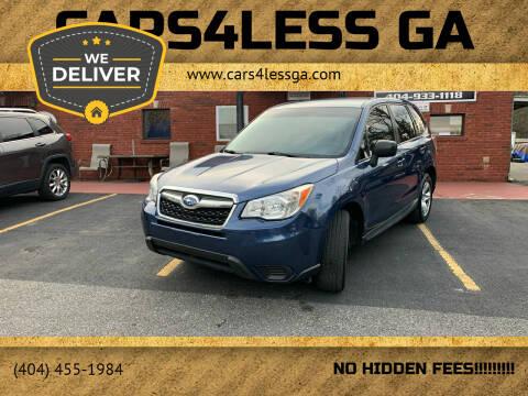 2014 Subaru Forester for sale at Cars4Less GA in Alpharetta GA