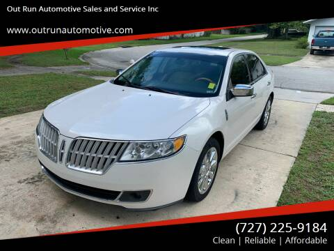 2010 Lincoln MKZ for sale at Out Run Automotive Sales and Service Inc in Tampa FL