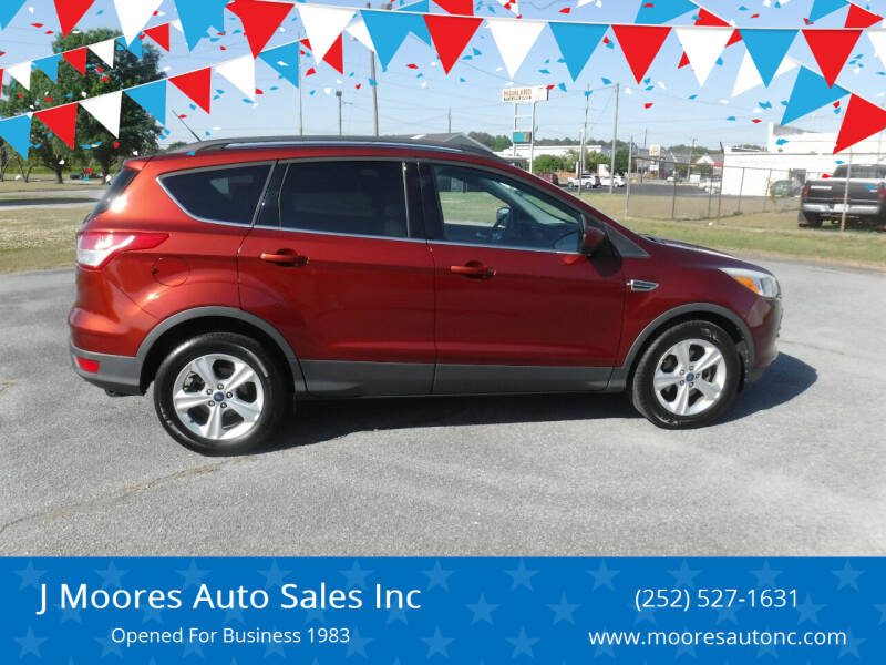 2014 Ford Escape for sale at J Moores Auto Sales Inc in Kinston NC