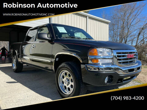 2005 GMC Sierra 1500 for sale at Robinson Automotive in Albemarle NC