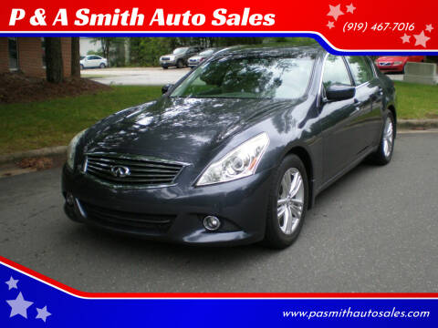 2012 Infiniti G37 Sedan for sale at P & A Smith Auto Sales in Cary NC