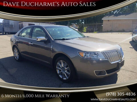2012 Lincoln MKZ for sale at Dave Ducharme's Auto Sales in Lowell MA