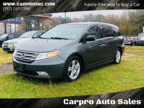2013 Honda Odyssey for sale at Carpro Auto Sales in Chesapeake VA