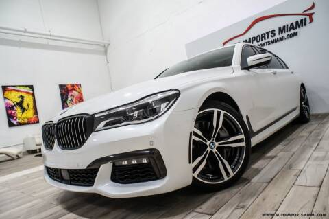 2019 BMW 7 Series for sale at AUTO IMPORTS MIAMI in Fort Lauderdale FL
