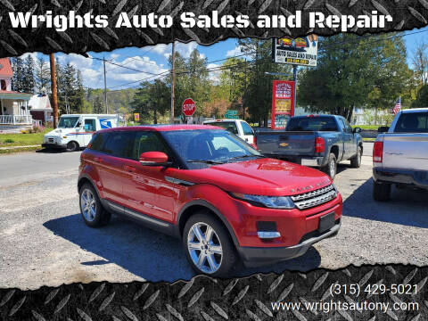 2013 Land Rover Range Rover Evoque for sale at Wrights Auto Sales and Repair in Dolgeville NY