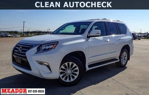 2017 Lexus GX 460 for sale at Meador Dodge Chrysler Jeep RAM in Fort Worth TX