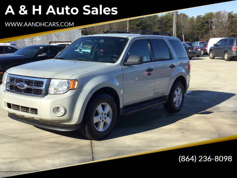2009 Ford Escape for sale at A & H Auto Sales in Greenville SC