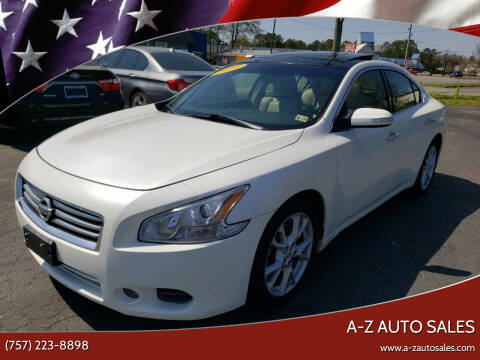 2014 Nissan Maxima for sale at A-Z Auto Sales in Newport News VA