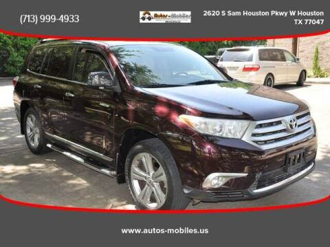 2012 Toyota Highlander for sale at AUTOS-MOBILES in Houston TX