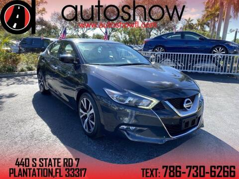 2017 Nissan Maxima for sale at AUTOSHOW SALES & SERVICE in Plantation FL