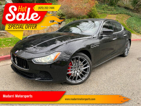 2017 Maserati Ghibli for sale at Mudarri Motorsports in Kirkland WA