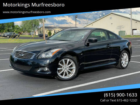 2014 Infiniti Q60 Coupe for sale at Motorkings Murfreesboro in Murfreesboro TN