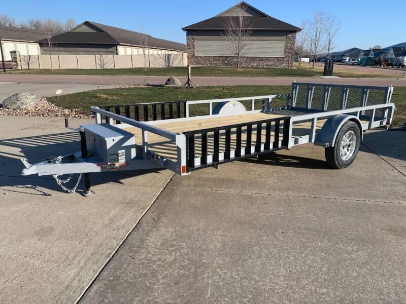 2021 H&H Rail Side Utility Gray #9703 for sale at Prairie Wind Trailers, LLC in Harrisburg SD