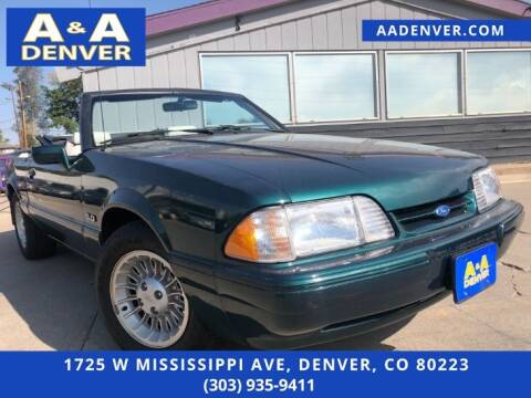 1990 Ford Mustang for sale at A & A AUTO LLC in Denver CO