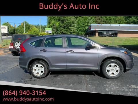 2016 Honda CR-V for sale at Buddy's Auto Inc in Pendleton, SC