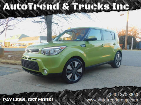 2014 Kia Soul for sale at AutoTrend & Trucks Inc in Fredericksburg VA