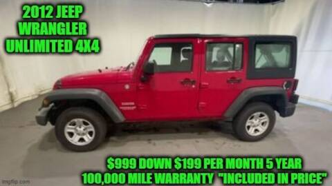 2012 Jeep Wrangler Unlimited for sale at D&D Auto Sales, LLC in Rowley MA