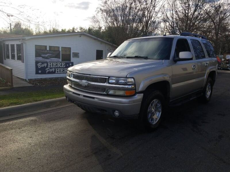 2005 Chevrolet Tahoe for sale at TR MOTORS in Gastonia NC