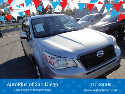 2014 Subaru Forester for sale at AutoPlus of San Diego in Spring Valley CA