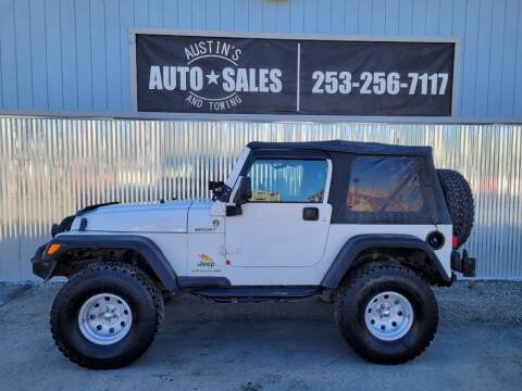 2005 Jeep Wrangler for sale at Austin's Auto Sales in Edgewood WA