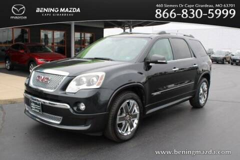 2012 GMC Acadia for sale at Bening Mazda in Cape Girardeau MO