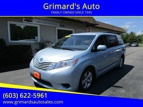 2015 Toyota Sienna for sale at Grimard's Auto in Hooksett NH