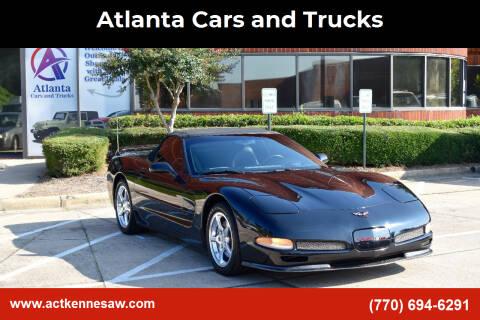 2001 Chevrolet Corvette for sale at Atlanta Cars and Trucks in Kennesaw GA