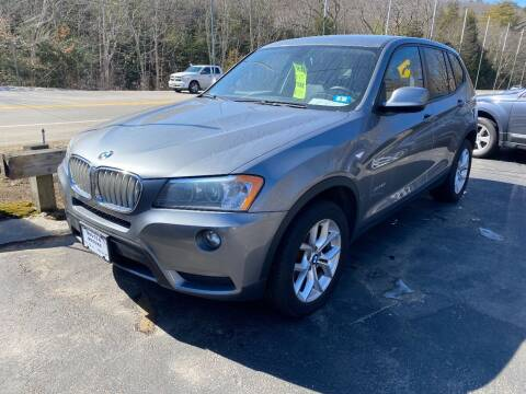 2013 BMW X3 for sale at Route 4 Motors INC in Epsom NH