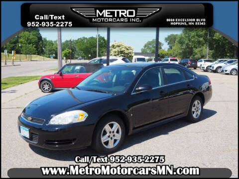 2009 Chevrolet Impala for sale at Metro Motorcars Inc in Hopkins MN
