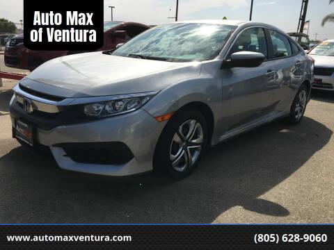 2016 Honda Civic for sale at Auto Max of Ventura in Ventura CA