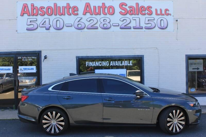 2018 Chevrolet Malibu for sale at Absolute Auto Sales in Fredericksburg VA