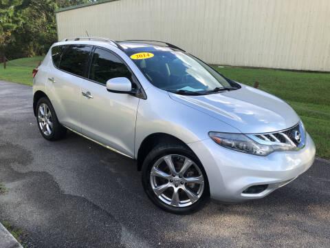 2014 Nissan Murano for sale at J. MARTIN AUTO in Richmond Hill GA