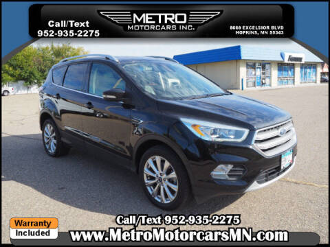 2017 Ford Escape for sale at Metro Motorcars Inc in Hopkins MN