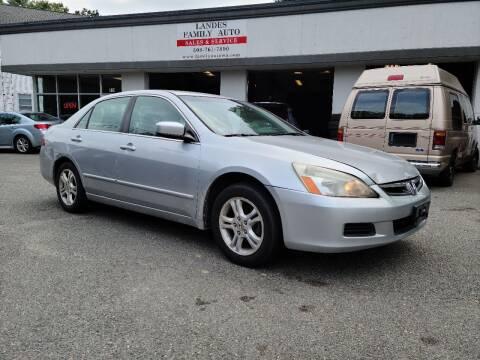 2007 Honda Accord for sale at Landes Family Auto Sales in Attleboro MA
