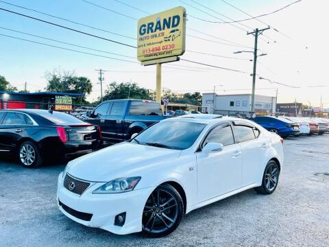 2012 Lexus IS 250 for sale at Grand Auto Sales in Tampa FL