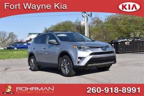 2017 Toyota RAV4 Hybrid for sale at BOB ROHRMAN FORT WAYNE TOYOTA in Fort Wayne IN