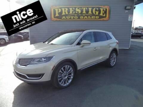 2016 Lincoln MKX for sale at PRESTIGE AUTO SALES in Spearfish SD