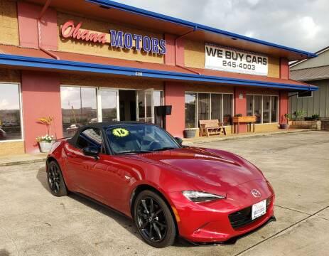 2016 Mazda MX-5 Miata for sale at Ohana Motors in Lihue HI