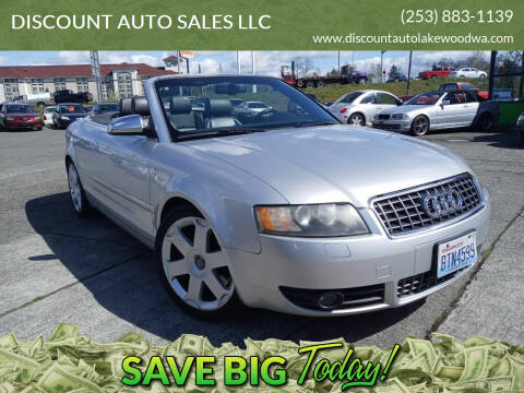 2005 Audi S4 for sale at DISCOUNT AUTO SALES LLC in Lakewood WA