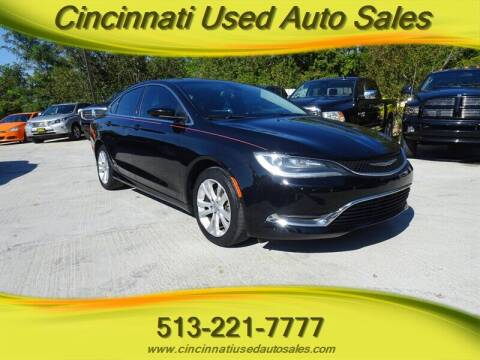 2015 Chrysler 200 for sale at Cincinnati Used Auto Sales in Cincinnati OH