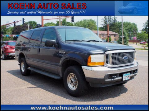 2001 Ford Excursion for sale at Koehn Auto Sales in Lindstrom MN