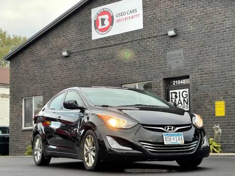 2015 Hyundai Elantra for sale at Big Man Motors in Farmington MN