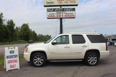 2013 GMC Yukon for sale at D & B Auto Sales LLC in Washington MI