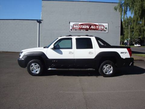 2003 Chevrolet Avalanche for sale at Motion Autos in Longview WA