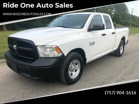 2013 RAM Ram Pickup 1500 for sale at Ride One Auto Sales in Norfolk VA