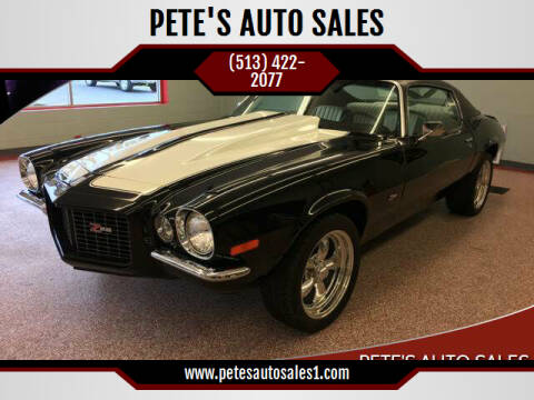 1970 Chevrolet Camaro for sale at PETE'S AUTO SALES LLC - Middletown in Middletown OH