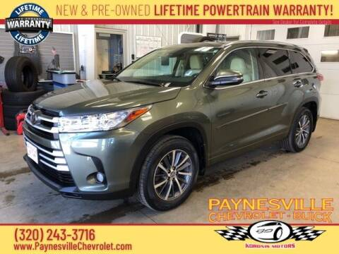 2017 Toyota Highlander for sale at Paynesville Chevrolet - Buick in Paynesville MN