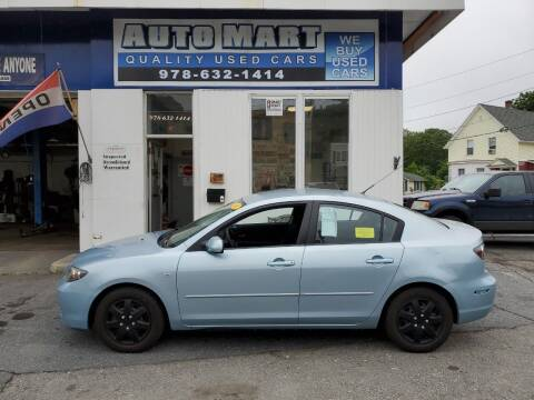 2008 Mazda MAZDA3 for sale at AUTO MART in Gardner MA
