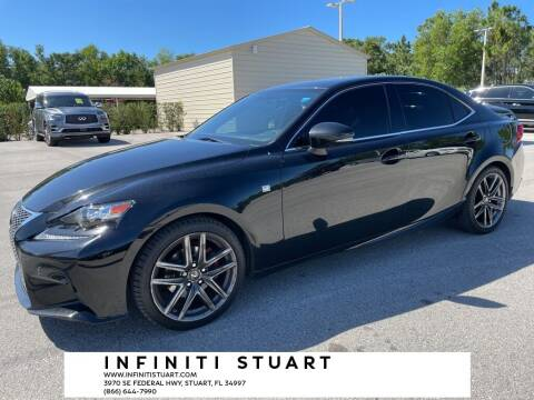 2015 Lexus IS 250 for sale at Infiniti Stuart in Stuart FL
